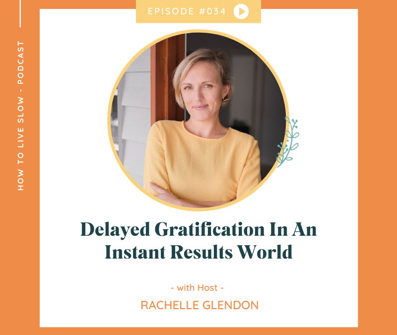 Episode #34 Delayed Gratification In An Instant Results World
